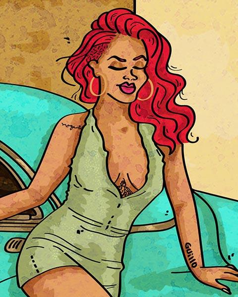 Cartelera-OnCuba-ilustración-Rihanna